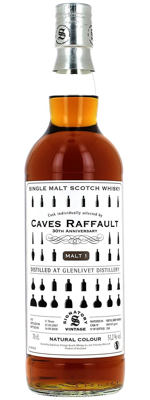 Cask individually selected by Caves Raffault 30TH ANNIVERSARY Malt 1 51,2% vol