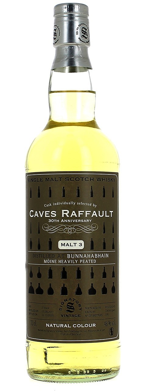 Cask individually selected by Caves Raffault 30TH ANNIVERSARY Malt 3 48% vol